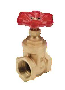 gate valve with red tap