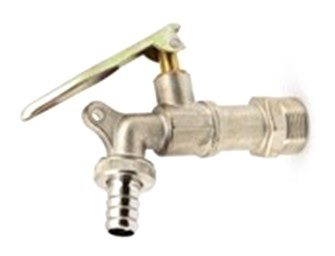 water tap on white background