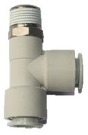 white colored plumbing valve with three openings