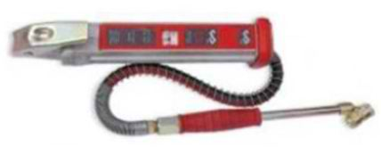 red & white tyre inflator
